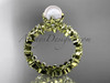 Diamond Pearl Flower Engagement Ring Yellow Gold AP57