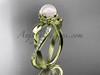 White Pearl Yellow Gold Diamond Engagement Ring AP70