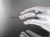 Unique Platinum diamond pearl engagement ring VP10030