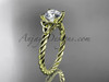 14kt yellow gold rope triquetra celtic engagement ring RPCT9116