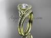 Irish Celtic Wedding Set Yellow Gold Moissanite Ring CT7317S
