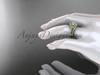 Moissanite celtic trinity knot wedding Set, 14kt yellow gold irish diamond engagement ring CT7317S