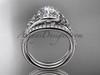 Moissanite celtic trinity knot wedding Set, Platinum irish diamond engagement ring CT7317S