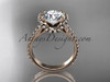 14kt rose gold diamond unique engagement ring, wedding ring ADER107