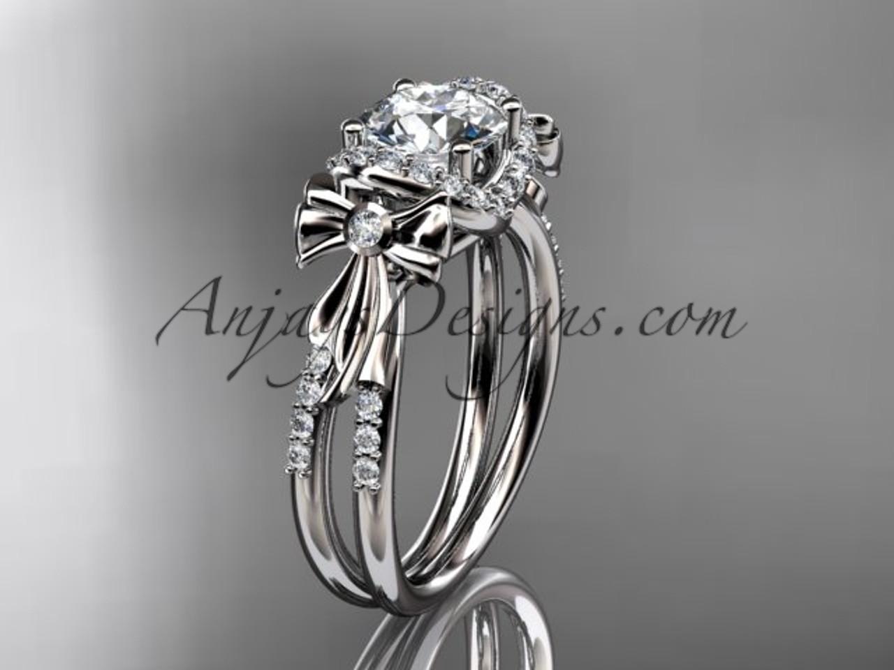 platinum diamond unique engagement ring wedding ring