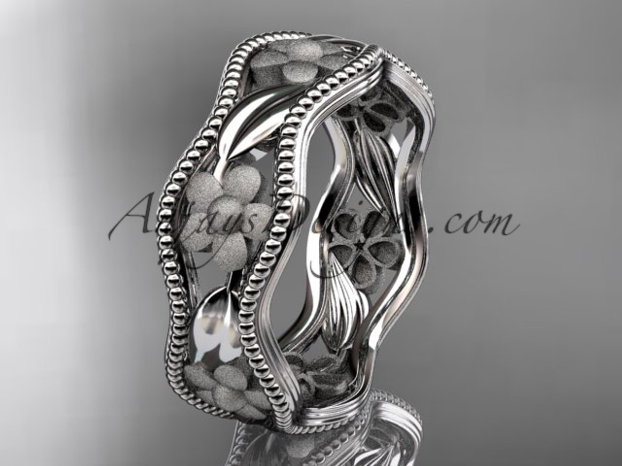 14k white gold diamond flower wedding ring engagement ring wedding