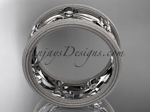 14kt white gold bow wedding ring engagement ring