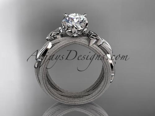 platinum celtic knot engagement ring
