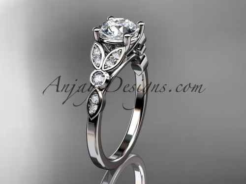 Unique engagement rings by anjaysdesigns 14k white gold unique engagement ring wedding ring adlr387 junglespirit Choice Image