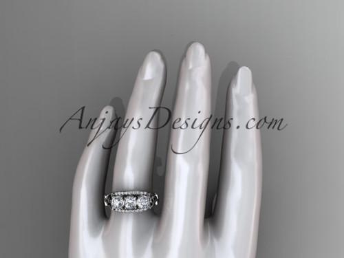 Platinum Diamond Celtic Trinity Knot Wedding Ring Three Stone Engagement CT7203