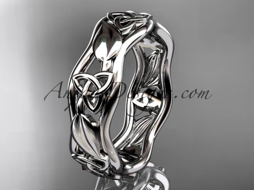 platinum celtic trinity knot engagement ring, wedding band CT7105B