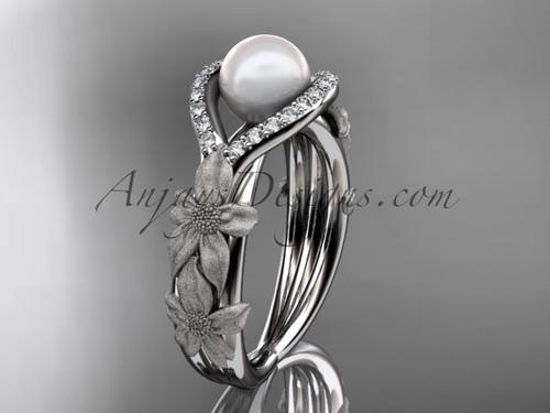 Platinum Diamond Fl Wedding Ring Engagement Ap127