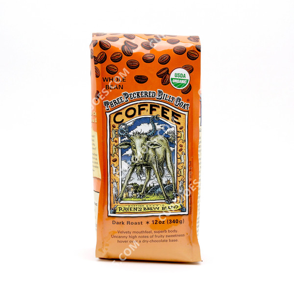 Raven's Brew Coffee Three Peckered Billy Goat Organic 12 oz.