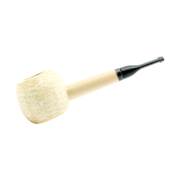 Corn Cob Pipe #502 Morgan Polished Non-Filtered Straight