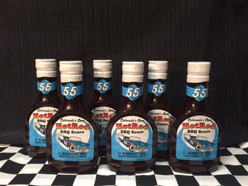 "6 Pack of ""55 Blueberry Hill""  Sweet and Smokey BBQ Sauce"