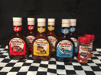 6 BBQ Sauces and 2 Rubs