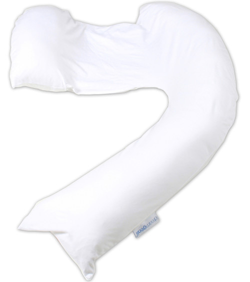 Dreamgenii Pregnancy, Support and Feeding Pillow White Jersey Cotton