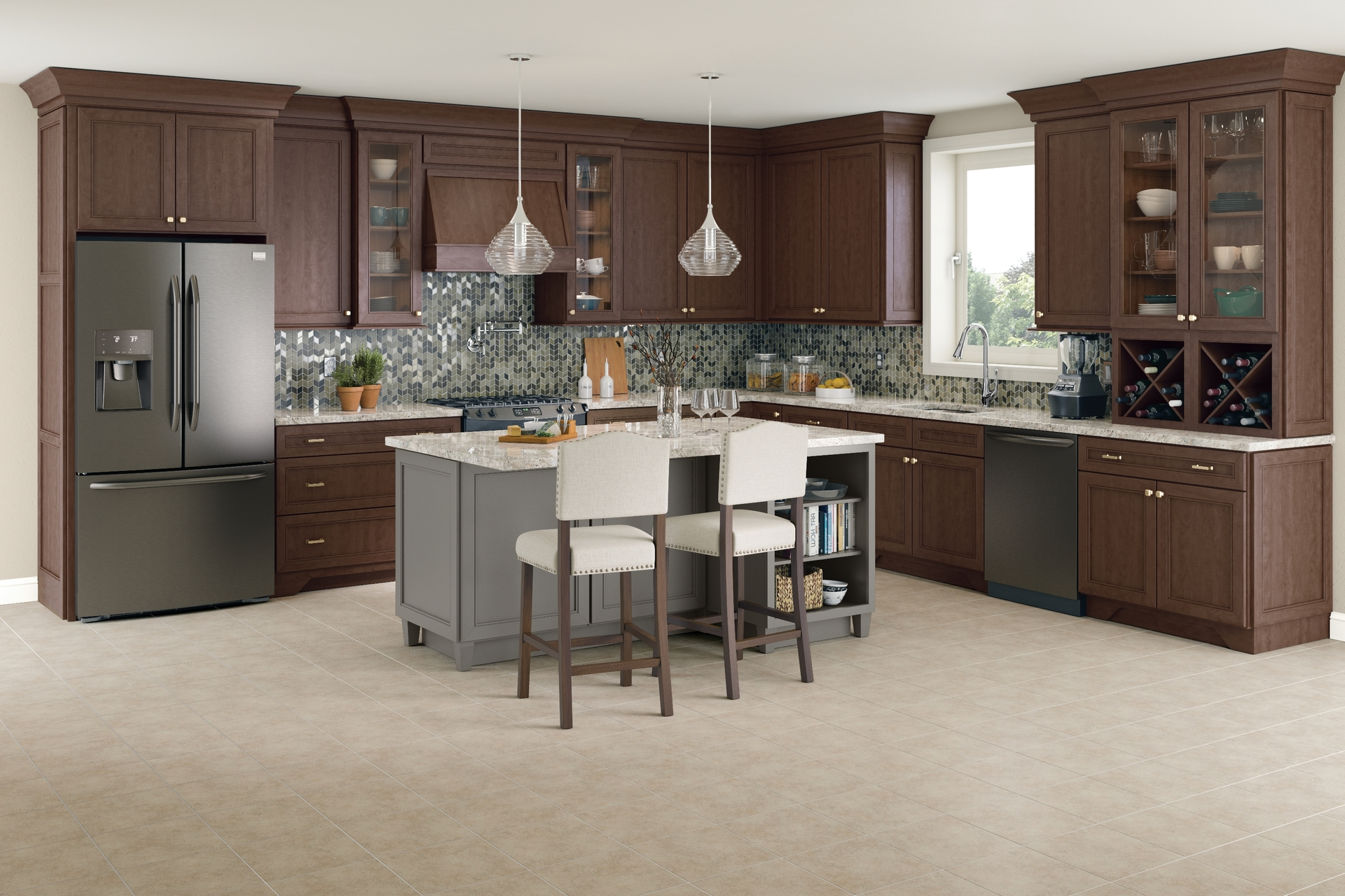 Cardell Kitchen Cabinets - Corbus Maple in Molasses