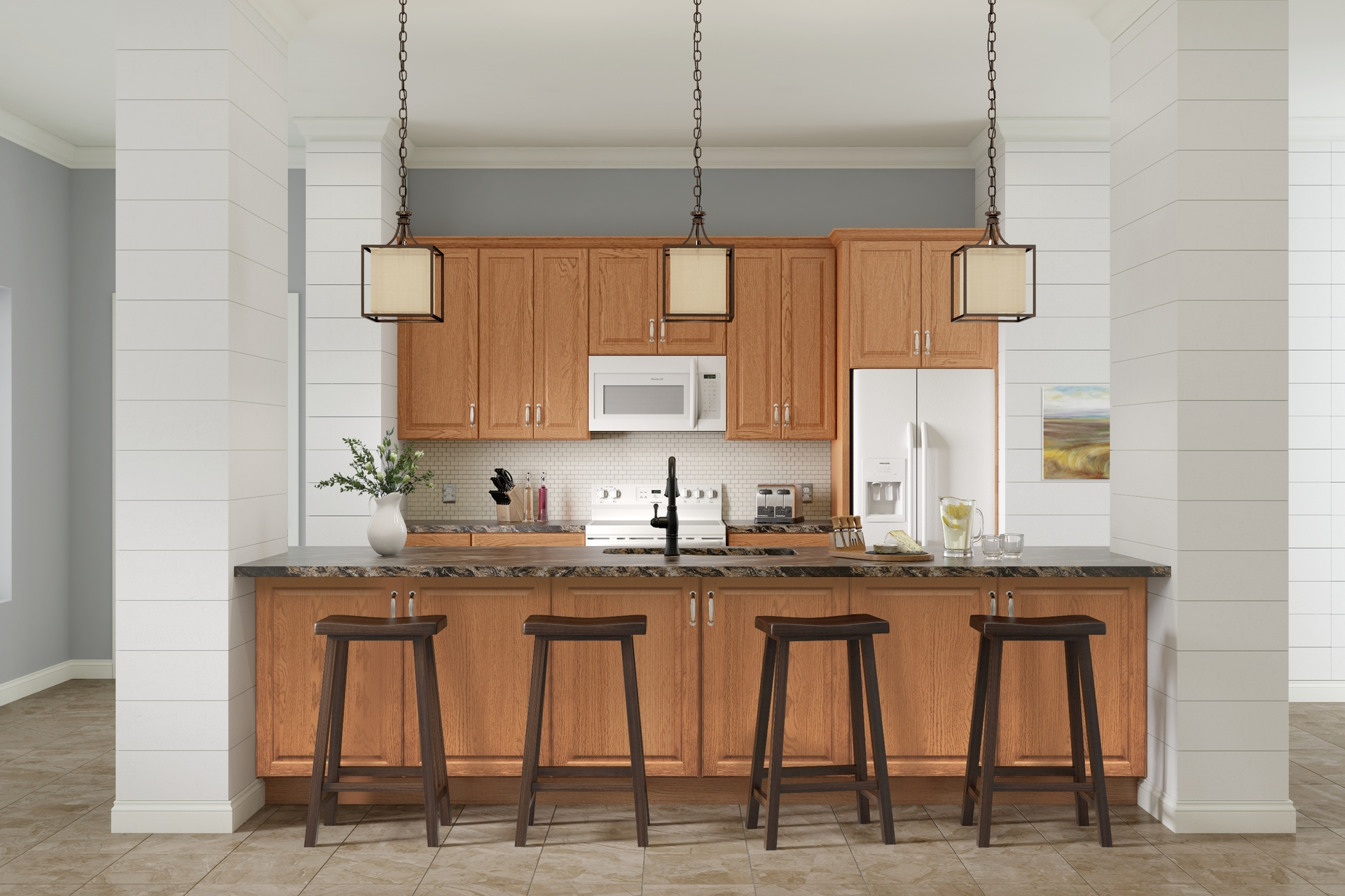 Cardell Cabinetry - Kitchen Cabinets - Forestville in Honey Spice