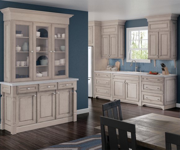 Cardell Kitchen Cabinets Jolina Maple In Aged Concrete