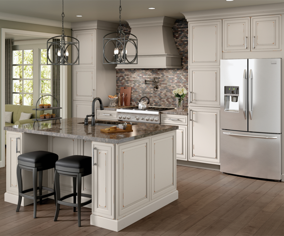 Cardell Kitchen Cabinets Captsone Cherry In Distressed