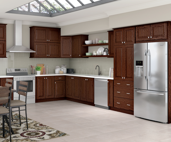 Cardell Kitchen Cabinets Deltona Rustic Hickory In Kaffe