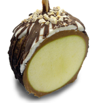 Oreo Chocolate Dipped Caramel Apple - Cross Section
