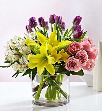Modern spring mix bouquet nancys floral portland or florist modern spring mix 145694 mightylinksfo