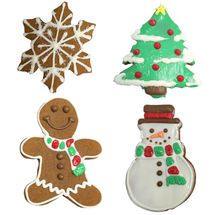 Decorated Gingerbread for Christmas - 1 Dozen