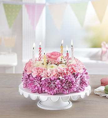 Birthday Wishes Flower Cake Pastel Portland Oregon Florist
