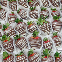 100 - 400 Bulk - Chocolate Dipped Strawberries with Drizzle (BSD-100400)