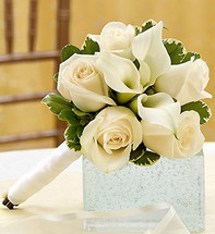 All White Petite Bouquet
