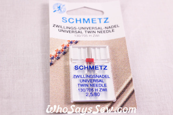 Schmetz twin needles 2.5/80