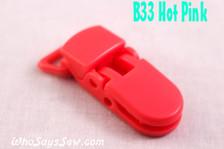 B33 KAM plastic resin dummy clips 2cm Who Says Sew