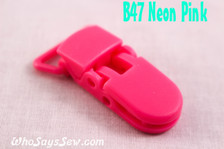 B47 KAM plastic resin dummy clips 2cm Who Says Sew