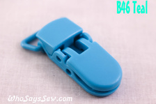 B46 KAM plastic resin dummy clips 2cm Who Says Sew
