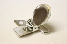 2.5cm KAM metal suspender/dummy/pacifier/soother/alligator clips w plastic teeth WHO SAYS SEW