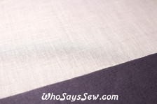 VILENE Iron-On Lightweight Soft Woven Cotton Interfacing in White APPLIED ON COTTON DRILL FABRIC