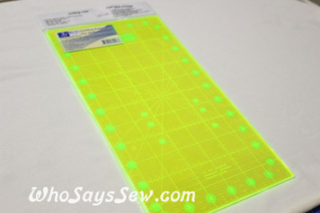 "6.5""x 12"" Fluoro Anti-Slip Quilt Square Ruler"