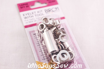 30 Large Eyelets with Bonus Tool silver