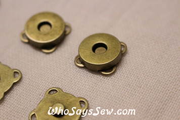 15mm Sew-On Magnetic Snap Buttons in Antique Bronze