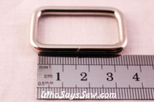 D 3.2 Metal Wire-Formed Rectangle Rings in Shiny Nickel.
