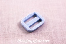 KAM Plastic Tri-Glides in Pastel Blue 1.5cm