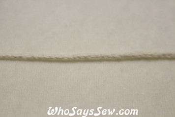2 Metres Twisted Cotton Piping Cord in 2mm-9mm - Natural