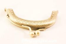 8.5cm Curved Antique Brass Purse frame