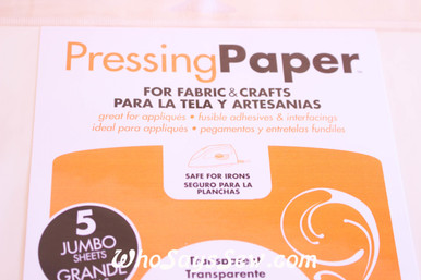 Heat'N'Bond Reuseable Pressing Paper. 5 Large Sheets.