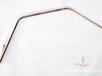 Shiny Nickel (Silver) Metal Edge Trim 23.5cmx 9.7cm  (Glue In)
