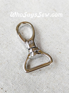 2x Top-Quality 2cm OR 2.5cm Swivel Snap Hooks in Shiny Nickel.