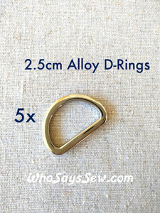 "5x 2.5cm(1"") Shiny Nickel or Gunmetal Alloy D-Rings"