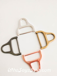 "4x 2.5cm(1"") Alloy Strap Connector Rings in 4 Finishes Silver, Antique Brass, Rose Gold and Gunmetal"